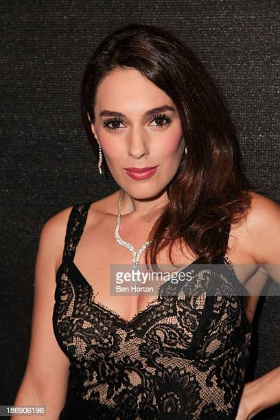 Actress Christina DeRosa attends the Black Russian Filmmakers VIP Reception and special screening at Arena Cinema Hollywood on November 4 2013 in...