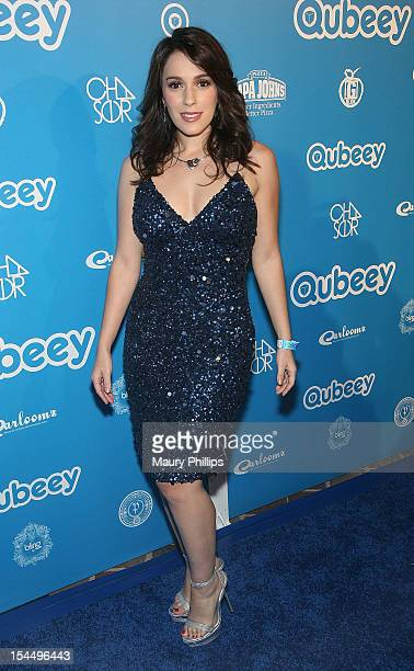 Actress Christina DeRosa attends the Chris Brown & Qubeey Launch Party on October 20, 2012 in Beverly Hills, California.