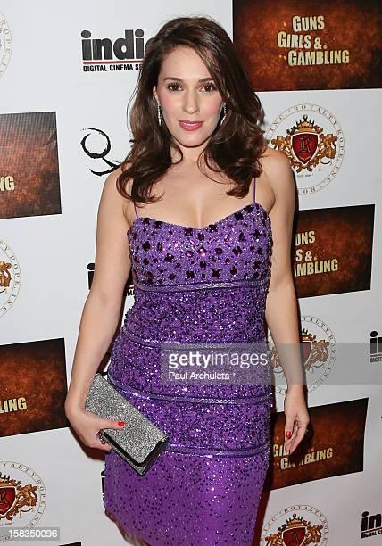 "Actress Christina DeRosa attends the ""Guns, Girls & Gambling"" screening at the Laemmle NoHo 7 on December 13, 2012 in North Hollywood, California."