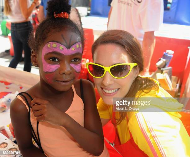 Actress Christina DeRosa participates in the Los Angeles Mission's End Of Summer Arts And Education Fair held at Los Angeles Mission on August 26,...
