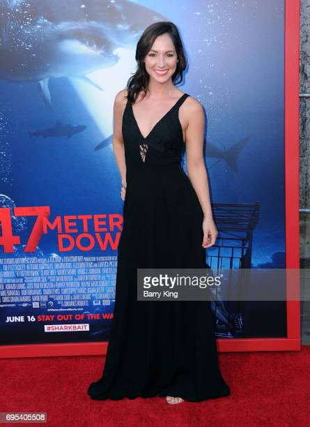 Actress Christina Elizabeth Smith attends the Premiere of Dinemsion Films' '47 Meters Down' at Regency Village Theatre on June 12 2017 in Westwood...