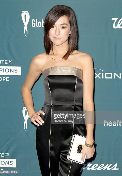 Actress Christina Grimmie attends the 4th Annual RARE Tribute To Champions Of Hope Gala on September 26 2015 in Huntington Beach California