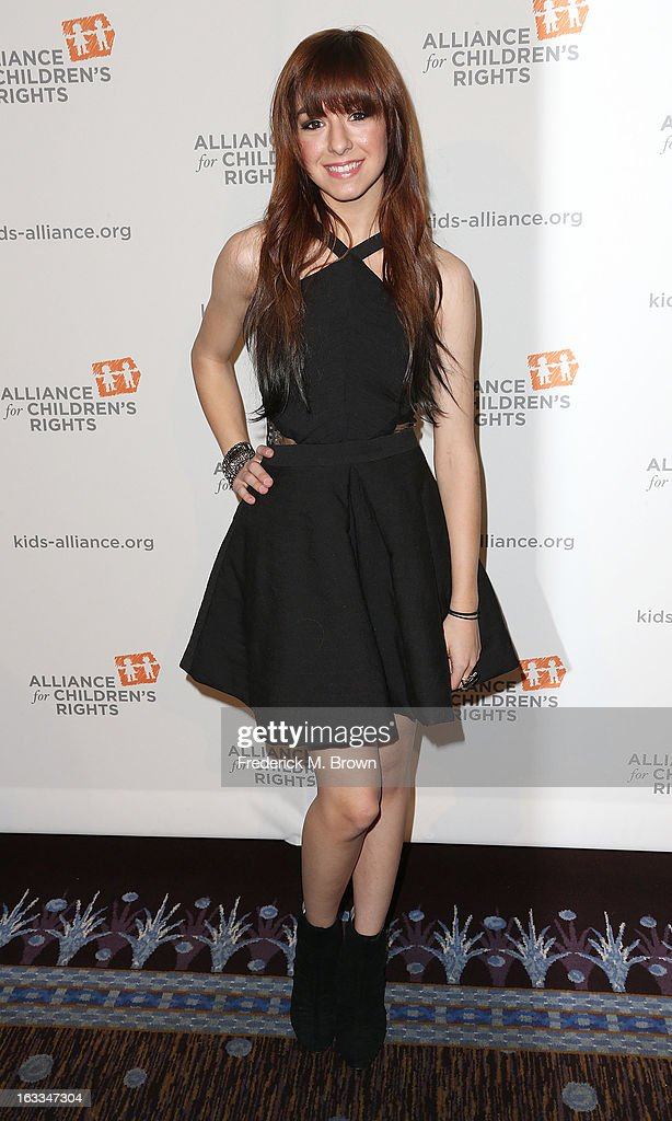 Actress Christina Grimmie attends The Alliance For Children's Rights' 21st Annual Dinner at The Beverly Hilton Hotel on March 7, 2013 in Beverly Hills, California.