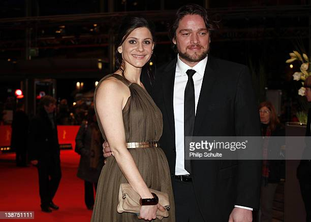 Actress Christina Hecke and actor Ronald Zehrfeld attend the Barbara Premiere during day three of the 62nd Berlin International Film Festival at the...