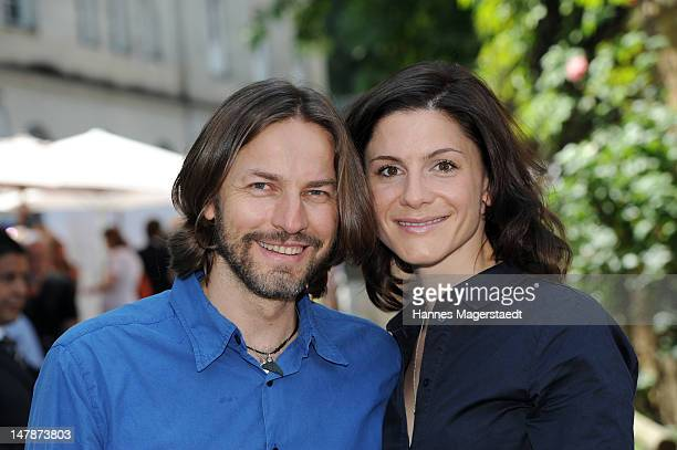 Actress Christina Hecke and Hans Steinbichler attend the FFF Reception during the Munich Film Festival 2012 at the Praterinsel on July 5 2012 in...