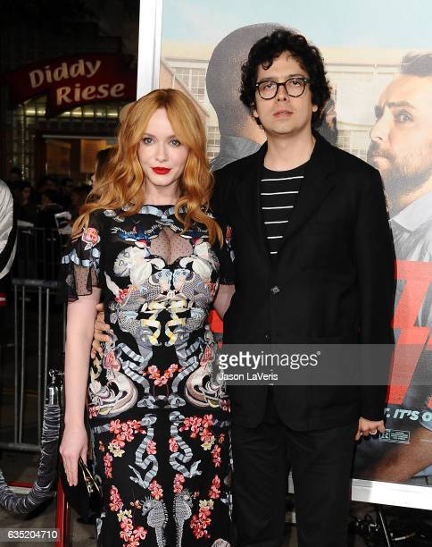 Actress Christina Hendricks and actor Geoffrey Arend attend the premiere of Fist Fight at Regency Village Theatre on February 13 2017 in Westwood...