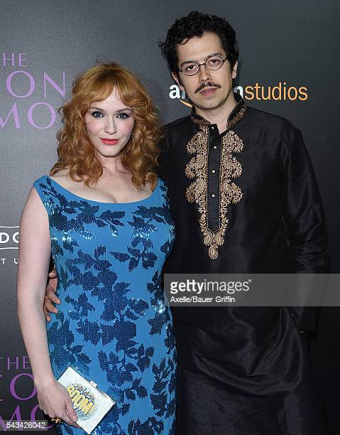 Actress Christina Hendricks and husband Geoffrey Arend arrive at the premiere of Amazon's 'The Neon Demon' at ArcLight Cinemas Cinerama Dome on June...