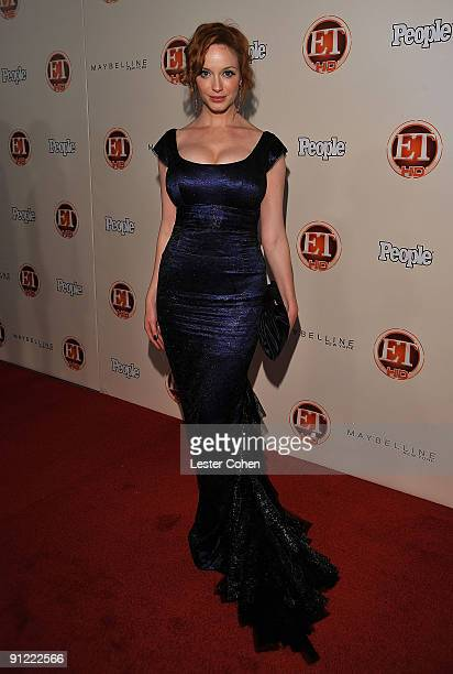 Actress Christina Hendricks arrives at the 13th Annual Entertainment Tonight and People Magazine Emmys After Party at the Vibiana on September 20...