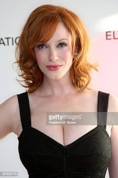 Actress Christina Hendricks arrives at the 18th annual Elton John AIDS Foundation's Oscar Viewing Party held at the Pacific Design Center on March 7...