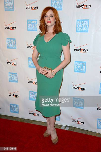 Actress Christina Hendricks arrives at the 41st Annual Peace Over Violence Humanitarian Awards held at Beverly Hills Hotel on October 26 2012 in...