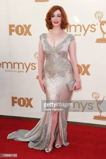 Actress Christina Hendricks arrives at the 63rd Annual Primetime Emmy Awards held at Nokia Theatre L.A. LIVE on September 18, 2011 in Los Angeles,...