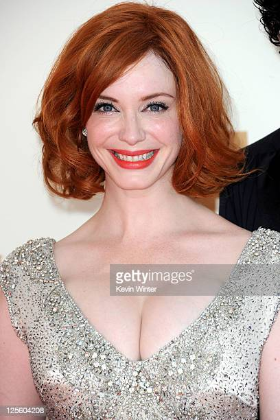 Actress Christina Hendricks arrives at the 63rd Annual Primetime Emmy Awards held at Nokia Theatre LA LIVE on September 18 2011 in Los Angeles...