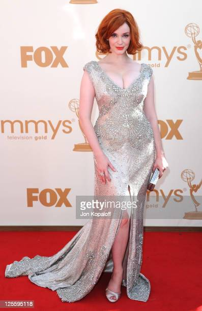 Actress Christina Hendricks arrives at the 63rd Primetime Emmy Awards held at Nokia Theatre L.A. Live on September 18, 2011 in Los Angeles, United...