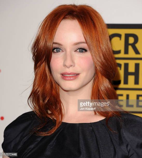 Actress Christina Hendricks arrives at the Critics' Choice Television Awards Luncheon at Beverly Hills Hotel on June 20 2011 in Beverly Hills...