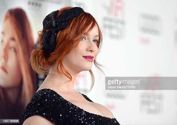 Actress Christina Hendricks arrives at the 'Ginger And Rosa' special screening during AFI Fest 2012 presented by Audi at Grauman's Chinese Theatre on...