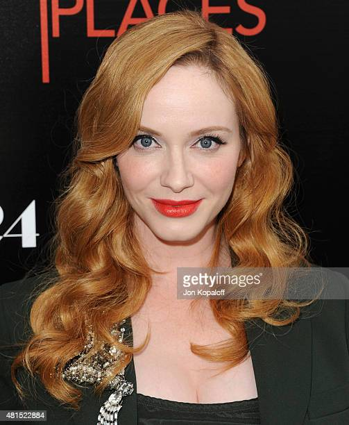 Actress Christina Hendricks arrives at the Premiere Of DIRECTV's 'Dark Places' at Harmony Gold Theatre on July 21 2015 in Los Angeles California
