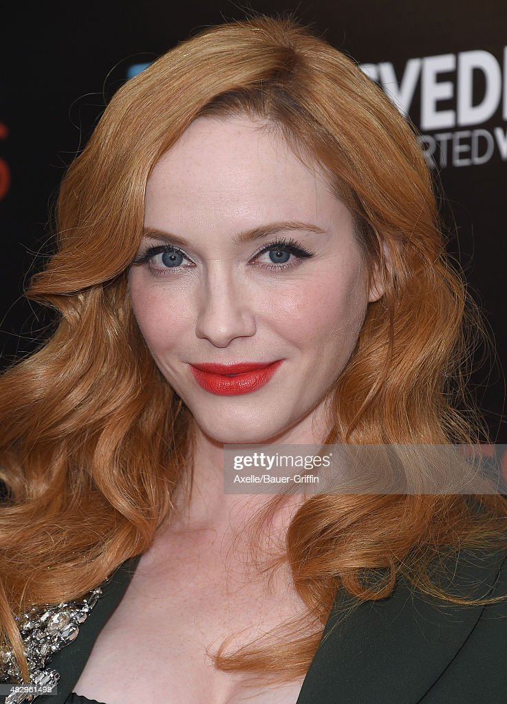 Actress Christina Hendricks arrives at the premiere of DIRECTV's 'Dark Places' at Harmony Gold Theatre on July 21, 2015 in Los Angeles, California.