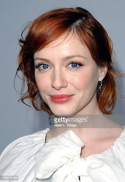 Actress Christina Hendricks arrives at the Premiere Screening of AMC's new Sony Pictures' Television drama Breaking Bad held on January 15 2008 at...