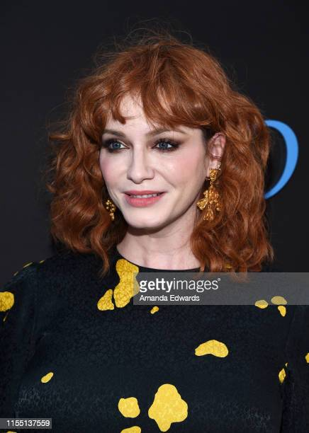 Actress Christina Hendricks arrives at the LA Special Screening of Amazon's Too Old To Die Young at the Vista Theatre on June 10 2019 in Los Angeles...