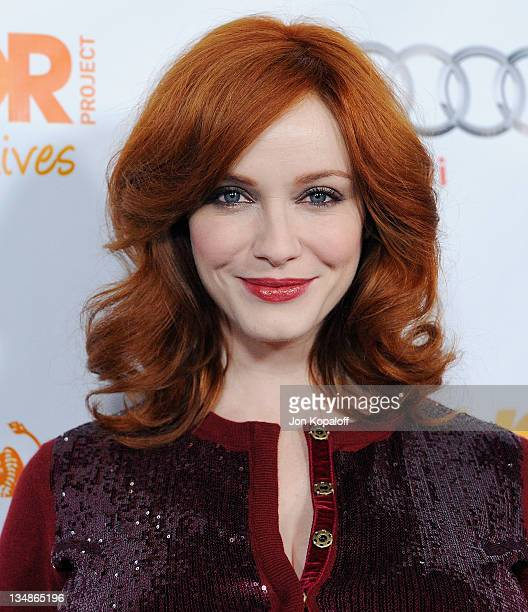 Actress Christina Hendricks arrives at The Trevor Project's 2011 Trevor Live at The Hollywood Palladium on December 4 2011 in Los Angeles California