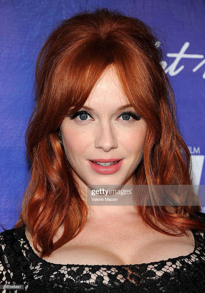 Actress Christina Hendricks arrives at the Variety And Women In Film Pre-Emmy Event at Scarpetta on September 21, 2012 in Beverly Hills, California.