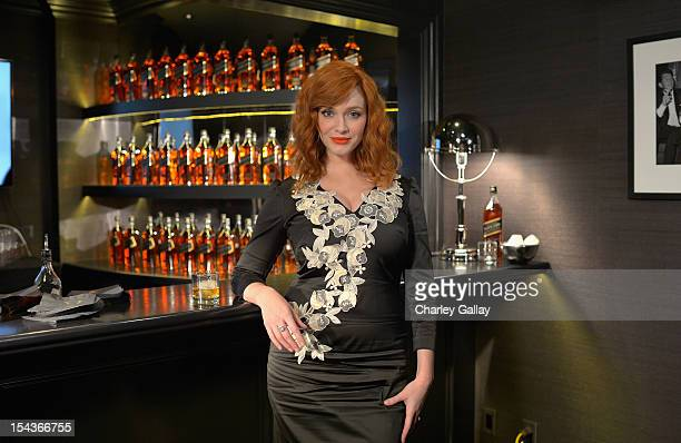 Actress Christina Hendricks attends a private Johnnie Walker Whisky tasting lead by Christina Hendricks at The House of Walker on October 18 2012 in...
