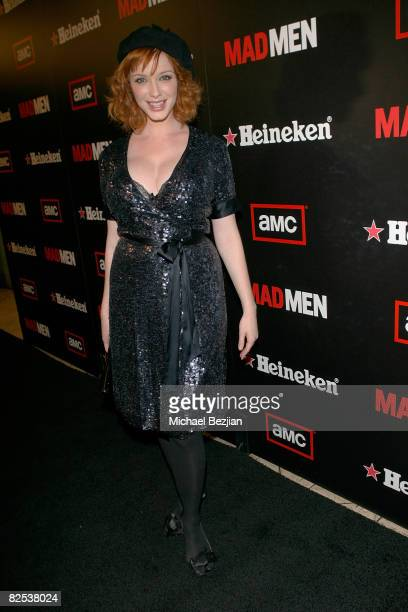 Actress Christina Hendricks attends AMC's Mad Men Season Two Wrap Party Sponsored by Heineken on August 23 2008 in Los Angeles California