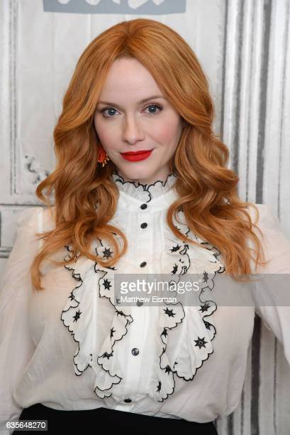 Actress Christina Hendricks attends Build Series presents Charlie Day and Christina Hendricks discussing 'Fist Fight' at Build Studio on February 16...