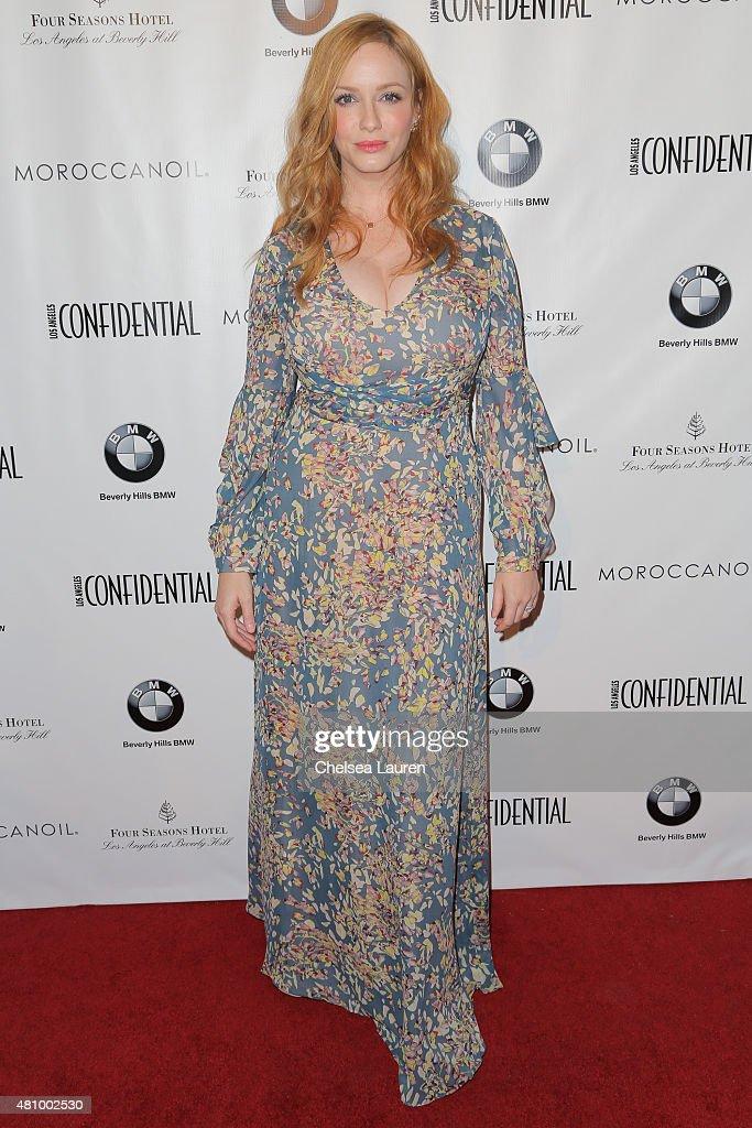 Actress Christina Hendricks attends Los Angeles Confidential Women Of Influence Celebration hosted by Christina Hendricks on July 16, 2015 in Los Angeles, California.