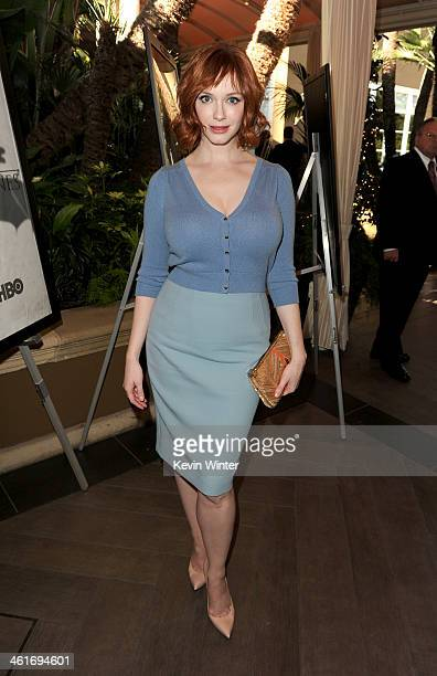 Actress Christina Hendricks attends the 14th annual AFI Awards Luncheon at the Four Seasons Hotel Beverly Hills on January 10, 2014 in Beverly Hills,...