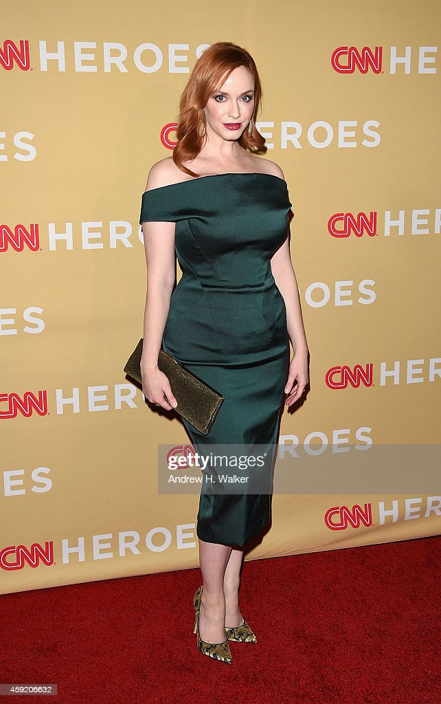 Actress Christina Hendricks attends the 2014 CNN Heroes: An All-Star Tribute at the American Museum of Natural History on November 18, 2014 in New York City.