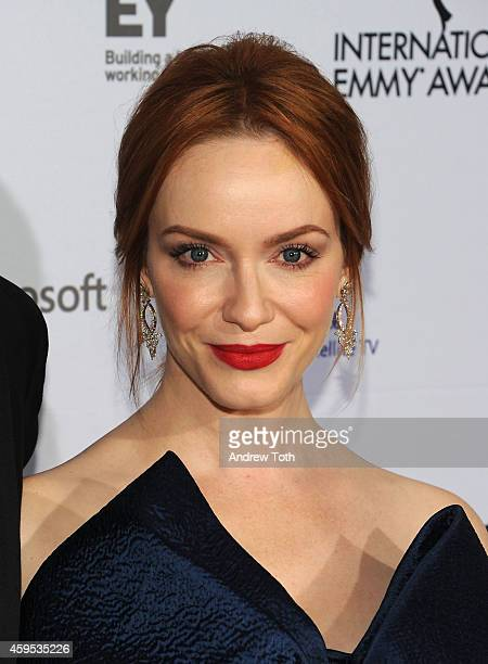 Actress Christina Hendricks attends the 2014 International Academy Of Television Arts Sciences Awards at New York Hilton on November 24 2014 in New...
