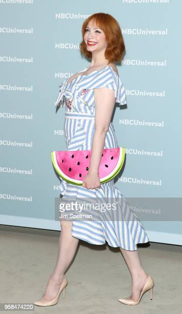 Actress Christina Hendricks attends the 2018 NBCUniversal Upfront presentation at Rockefeller Center on May 14 2018 in New York City