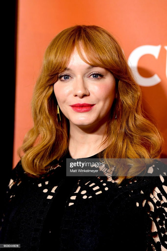 Actress Christina Hendricks attends the 2018 NBCUniversal Winter Press Tour at The Langham Huntington, Pasadena on January 9, 2018 in Pasadena, California.