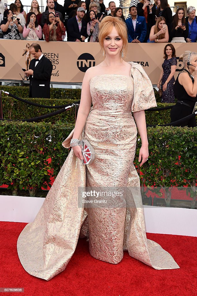 Actress Christina Hendricks attends the 22nd Annual Screen Actors Guild Awards at The Shrine Auditorium on January 30, 2016 in Los Angeles, California.