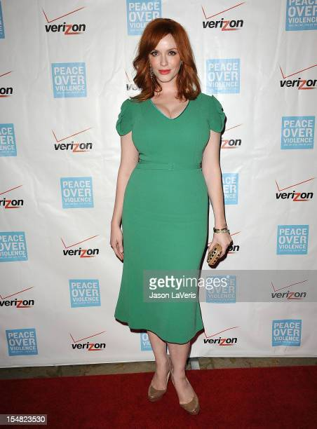 Actress Christina Hendricks attends the 41st annual Peace Over Violence Humanitarian Awards at Beverly Hills Hotel on October 26 2012 in Beverly...