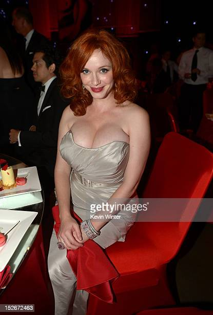 Actress Christina Hendricks attends the 64th Annual Primetime Emmy Awards Governors Ball at Nokia Theatre LA Live on September 23 2012 in Los Angeles...