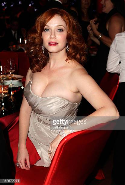 Actress Christina Hendricks attends the 64th Primetime Emmy Awards Governors Ball at Los Angeles Convention Center on September 23 2012 in Los...
