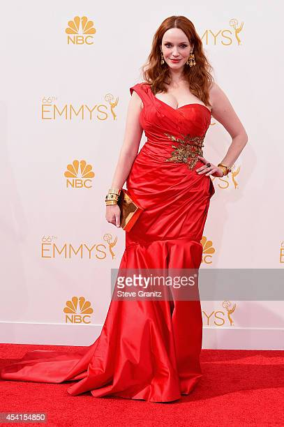 Actress Christina Hendricks attends the 66th Annual Primetime Emmy Awards held at Nokia Theatre LA Live on August 25 2014 in Los Angeles California