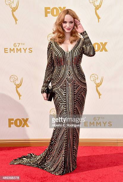 Actress Christina Hendricks attends the 67th Emmy Awards at Microsoft Theater on September 20 2015 in Los Angeles California 25720_001