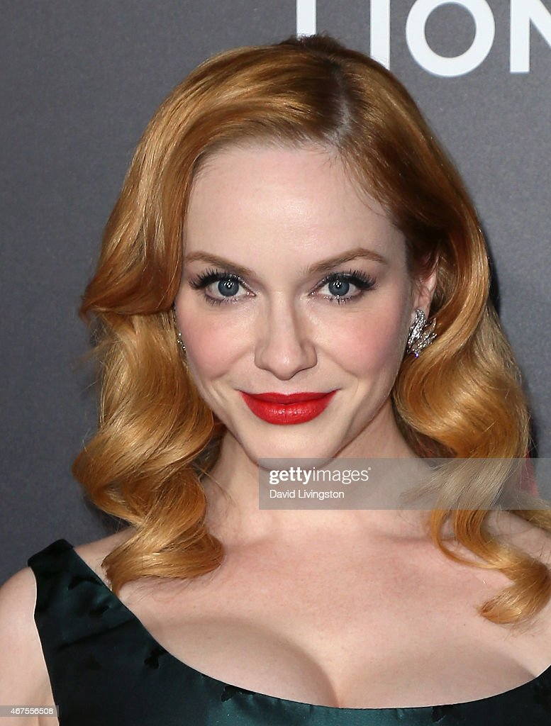 Actress Christina Hendricks attends the AMC celebration of the final 7 episodes of 'Mad Men' with The Black & Red Ball at the Dorothy Chandler Pavilion on March 25, 2015 in Los Angeles, California.