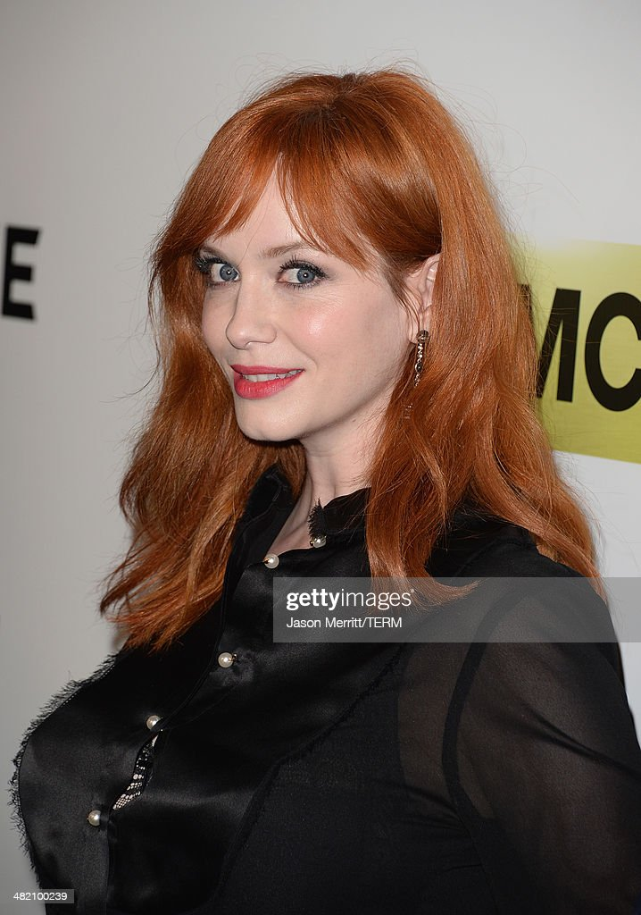 Actress Christina Hendricks attends the AMC celebration of the 'Mad Men' season 7 premiere at ArcLight Cinemas on April 2, 2014 in Hollywood, California.