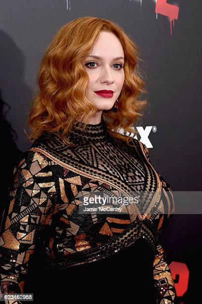 Actress Christina Hendricks attends the 'Bad Santa 2' New York Premiere at AMC Loews Lincoln Square 13 theater on November 15 2016 in New York City