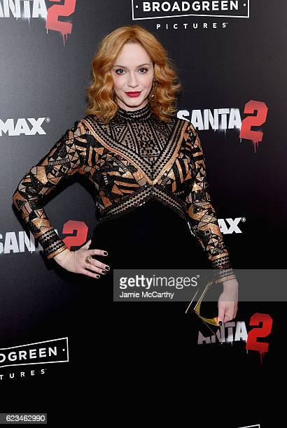 Actress Christina Hendricks attends the Bad Santa 2 New York Premiere at AMC Loews Lincoln Square 13 theater on November 15 2016 in New York City