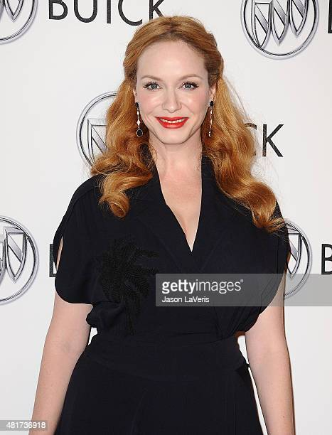 Actress Christina Hendricks attends the Buick '24 Hours Of Happiness' test drive launch event at Ace Museum on July 22 2015 in Los Angeles California
