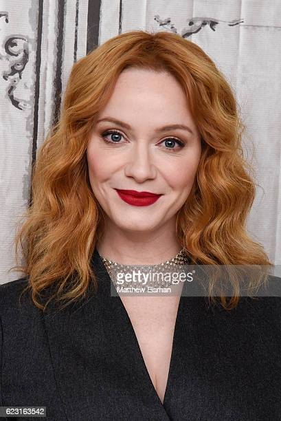 Actress Christina Hendricks attends The Build Series Presents Billy Bob Thornton Christina Hendricks Brett Kelly Tony Cox Mark Waters and Kathy Bates...