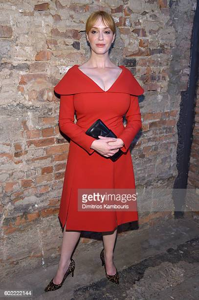Actress Christina Hendricks attends the Christian Siriano fashion show during New York Fashion Week The Shows at ArtBeam on September 10 2016 in New...