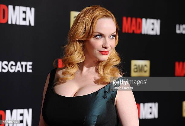 Actress Christina Hendricks attends the Mad Men Black Red Ball at Dorothy Chandler Pavilion on March 25 2015 in Los Angeles California