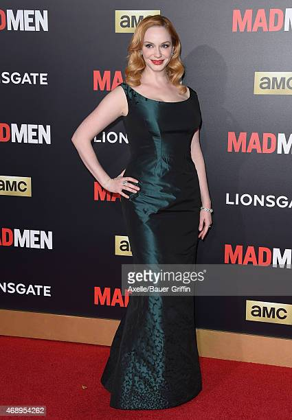 Actress Christina Hendricks attends the 'Mad Men' Black & Red Ball at Dorothy Chandler Pavilion on March 25, 2015 in Los Angeles, California.
