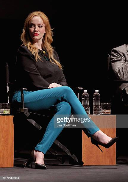 Actress Christina Hendricks attends the 'Mad Men' special screening at The Film Society of Lincoln Center on March 21 2015 in New York City
